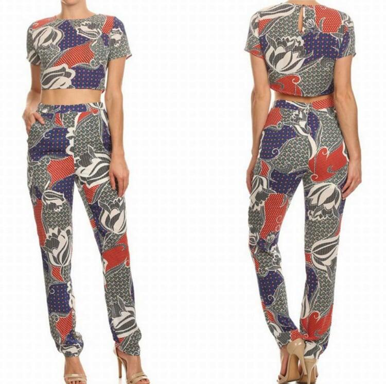 Image of Chelsea Crop Top Pants Set