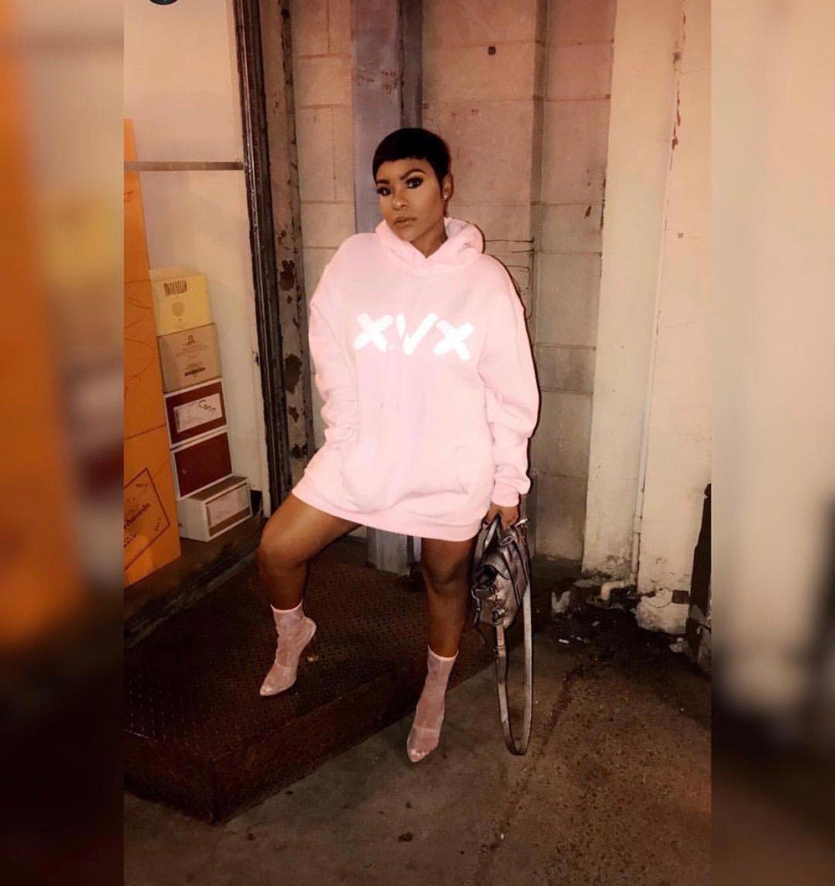 Image of Pink Bold XVX Hoodie Dress