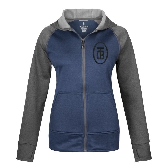 Image of TCB RECORDS®  Elevate Anshi Knit Full Zip Women's Hoodie