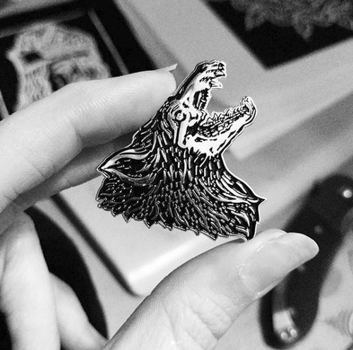 Image of Moonhound Enamel Lapel Pin