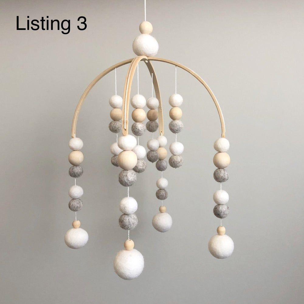 Image of Mobiles - felt balls (Ready to Post)