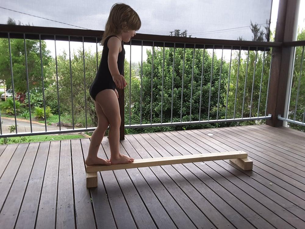 Image of Wooden Balance beam