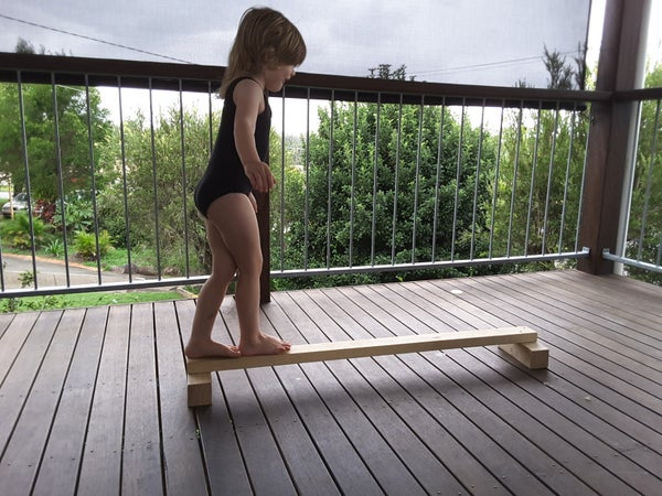 Image of Wooden Balance beam