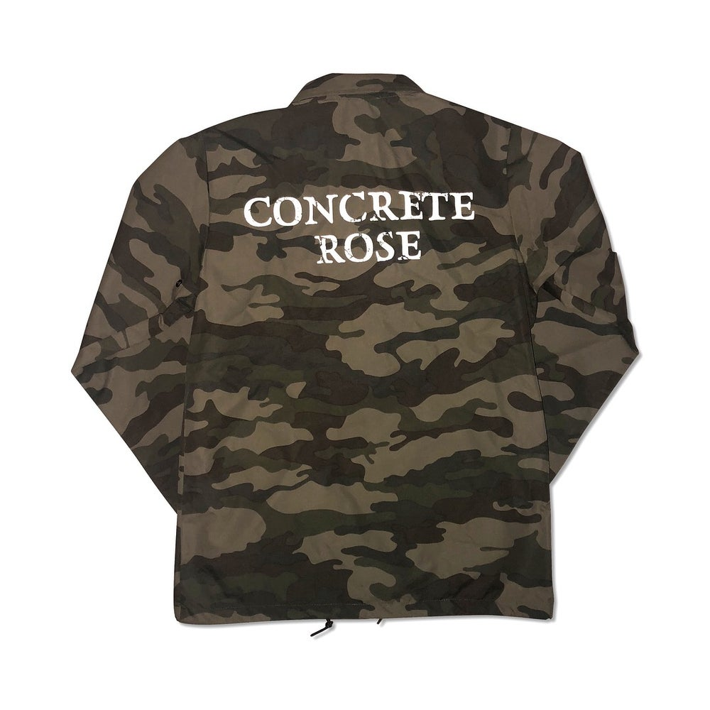 Image of Camo Green Coach Jacket