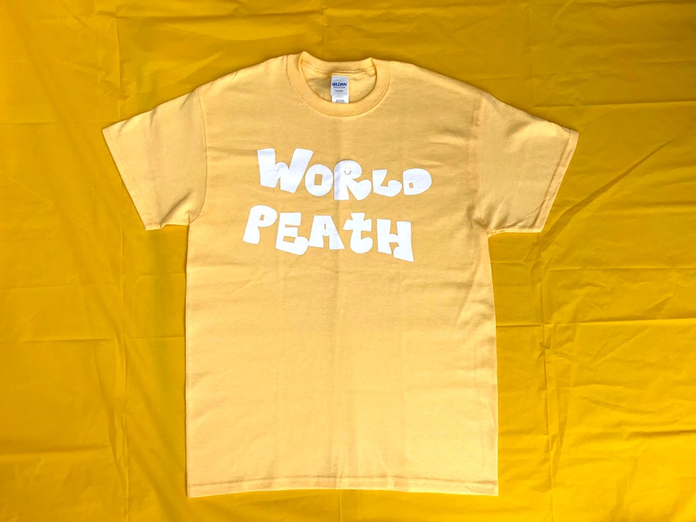 Image of world peath shirt (light yellow)