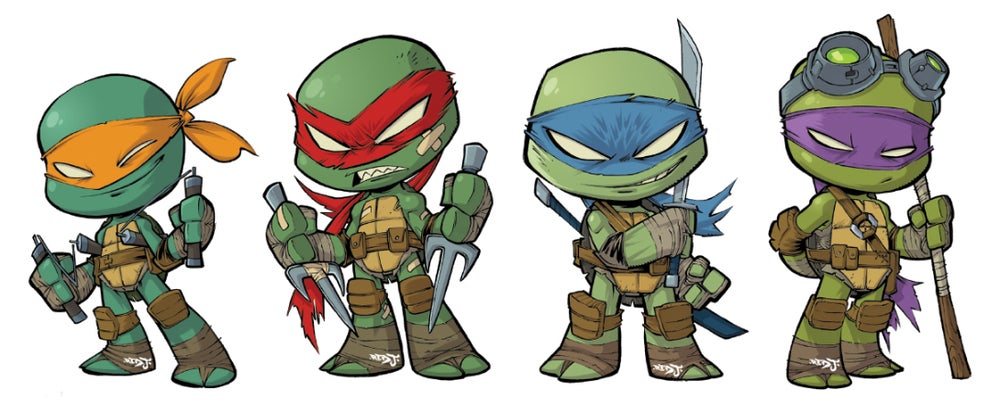Image of TMNT Chibi Sticker Set
