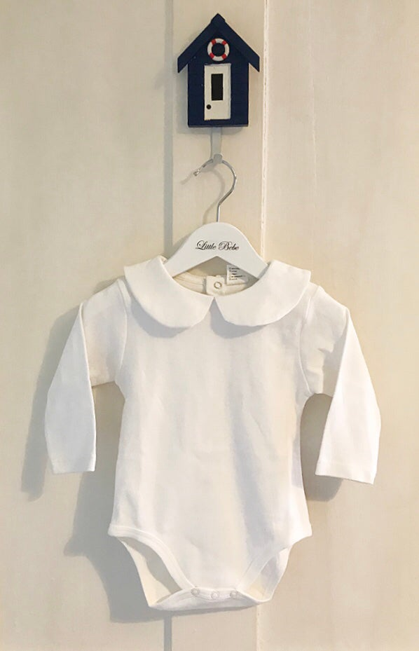 Image of Long sleeve peter pan collar bodysuit