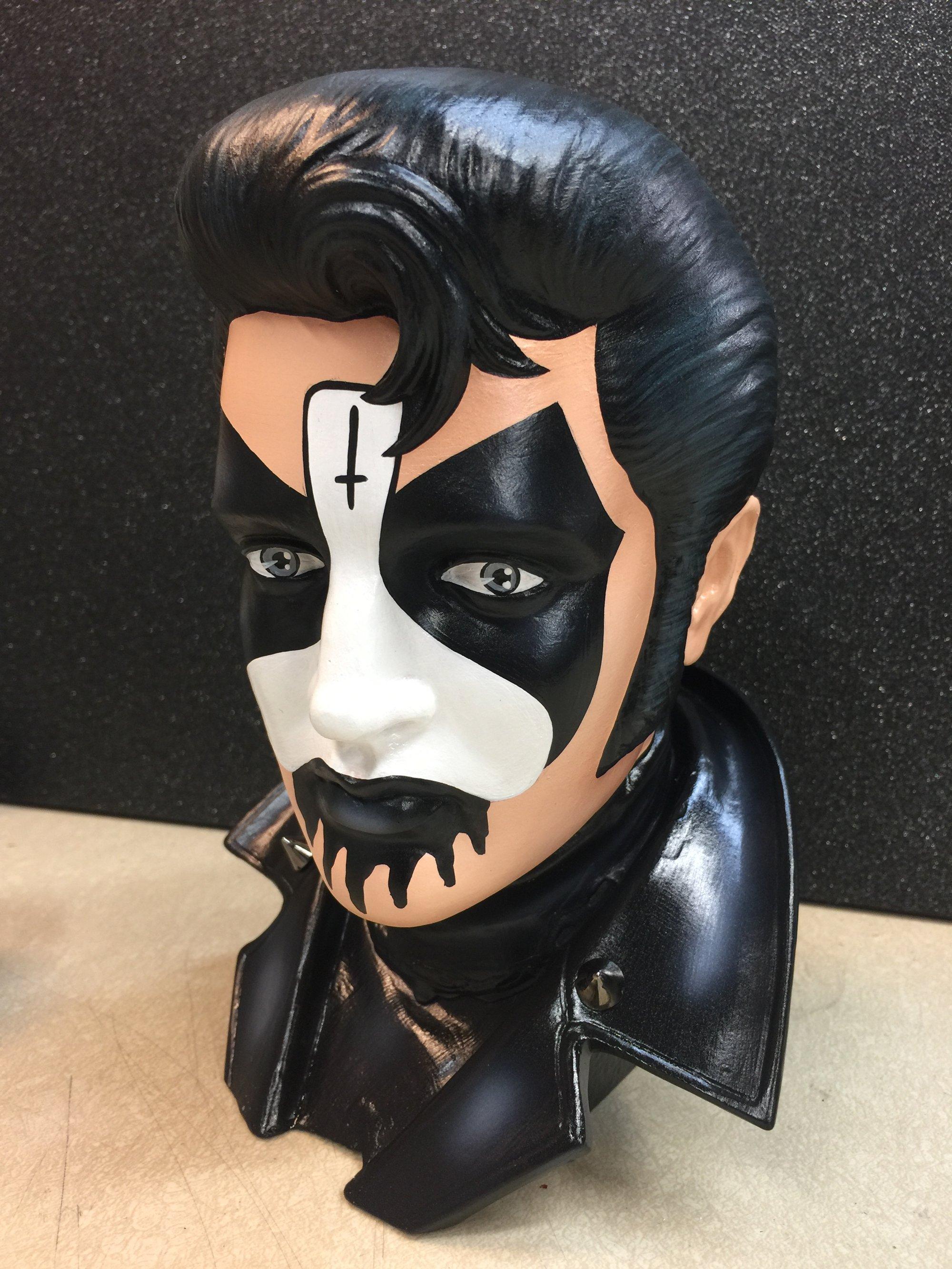 Lucky Hellcat King Diamond Elvis Bust