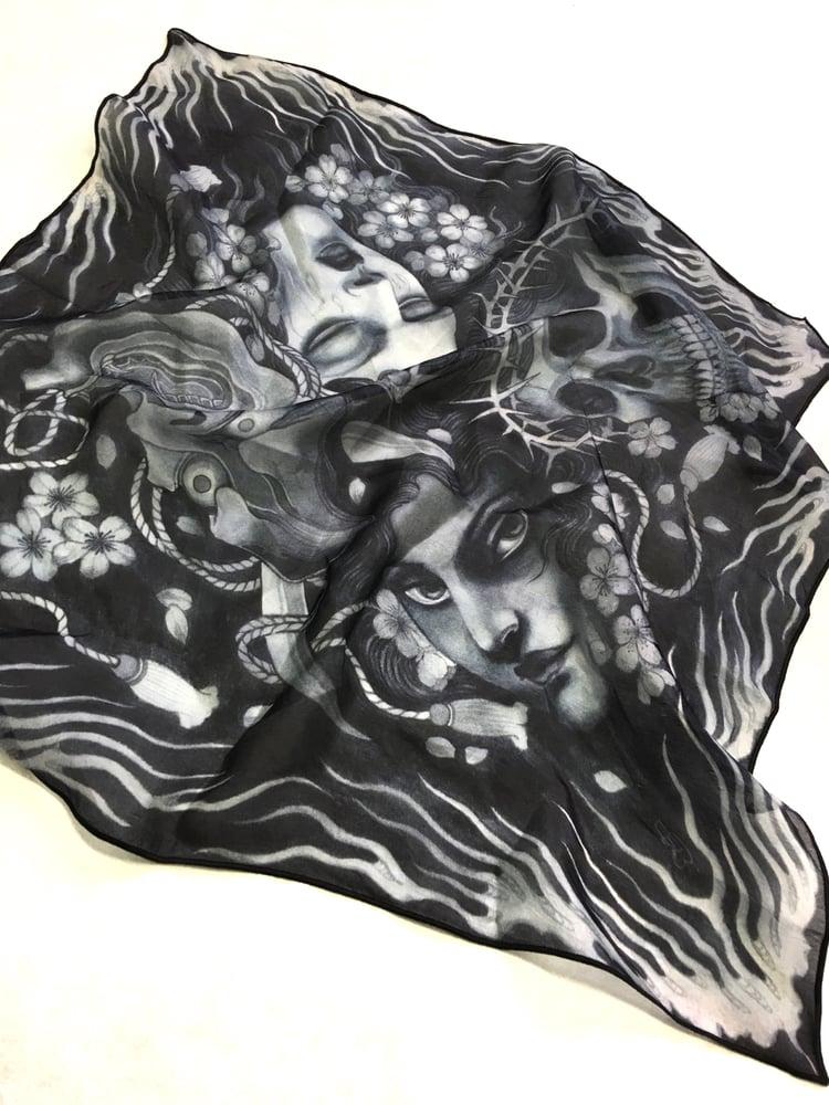 Image of Four seasons Silk handkerchief