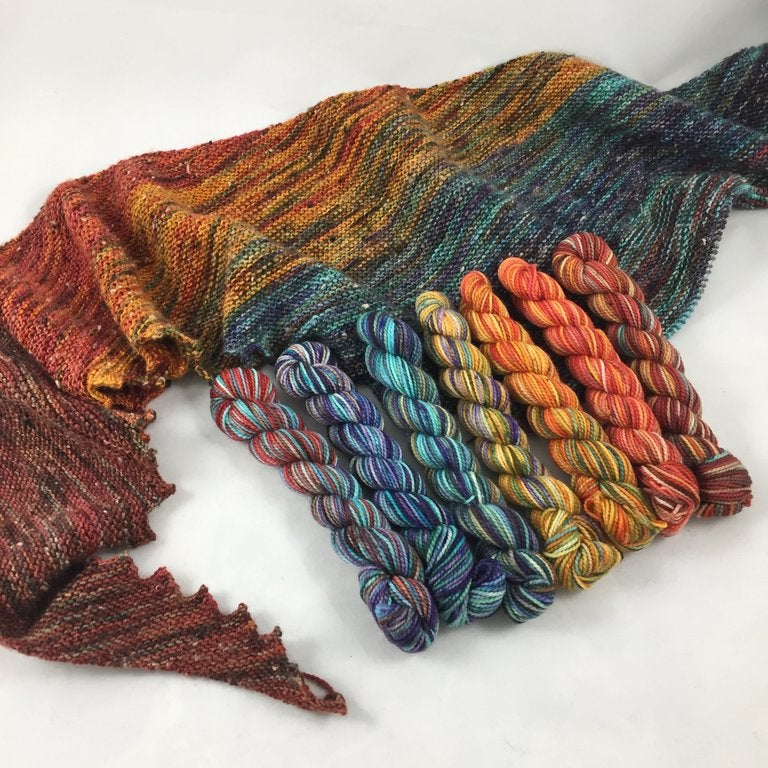 Image of Canyonlands Mini Set Shawl Quantity! On Isabella or Carrick fingering weight