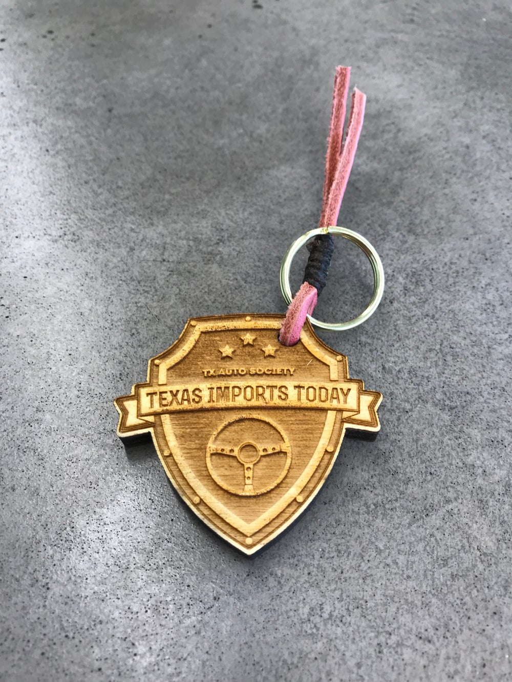 Image of TexasimportsToday Wood Keychains