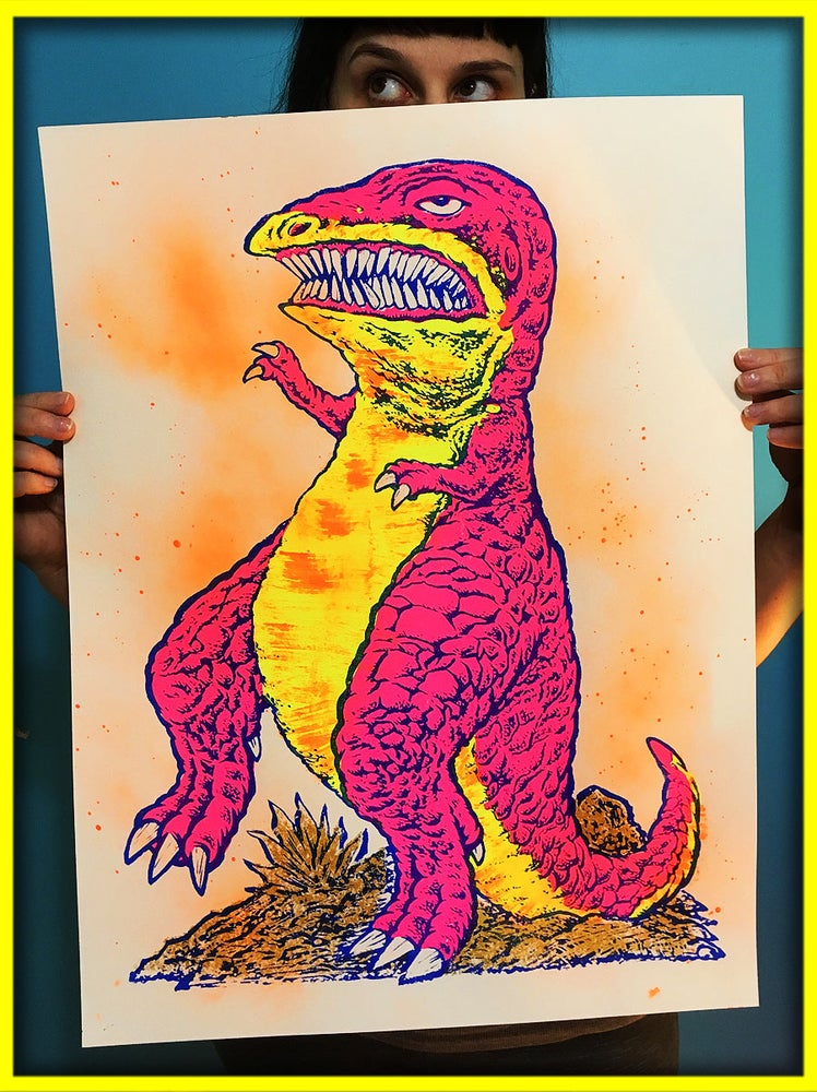 Image of Extremely Realistic T-Rex Screen Print