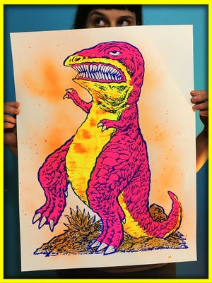Extremely Realistic T-Rex Screen Print