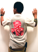 Image of The Niceguys X Stackwell Collab Tees | Heather Grey/Red {Limited Edition}