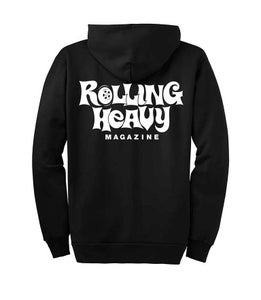 Image of Rolling Heavy Logo Zip Up Hoodie.