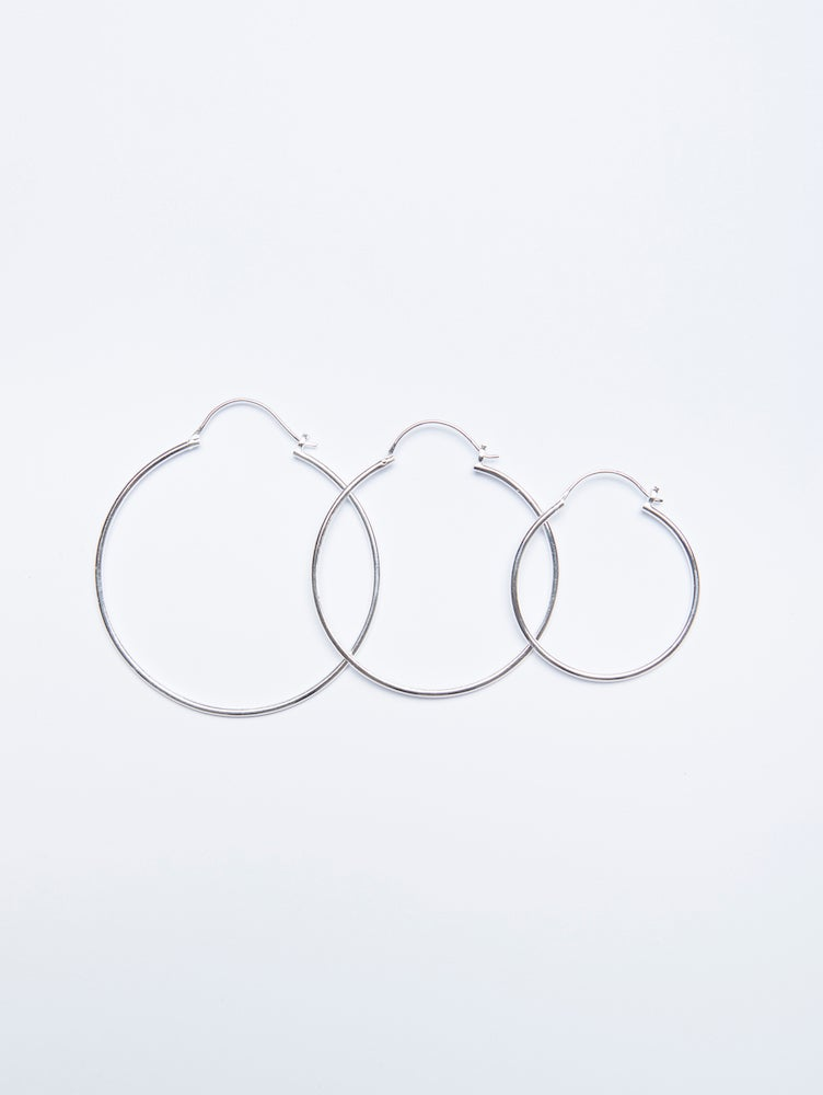 Image of Hoop Earrings Silber