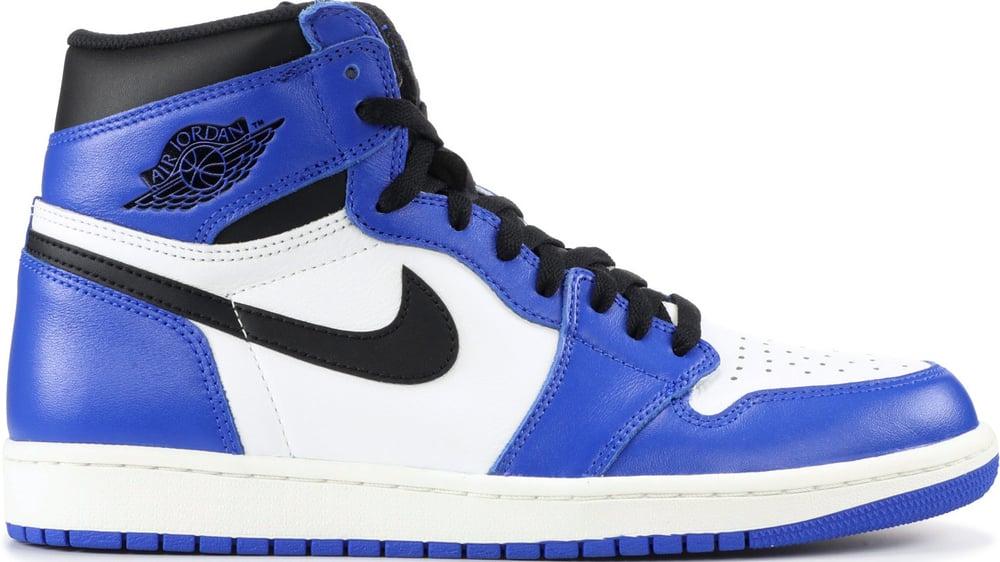 """Image of Nike Retro Air Jordan 1 """"Game Royal"""" GS (FREE SHIPPING)"""