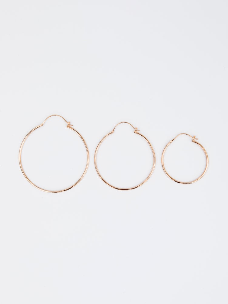 Image of Hoop Earrings Gold