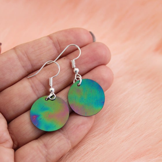 Image of Oil Slick Sequin Earrings