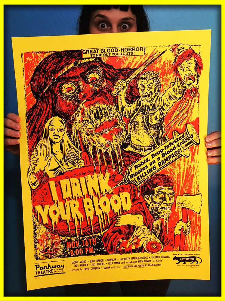 Image of I Drink Your Blood 18x24 Screenprint