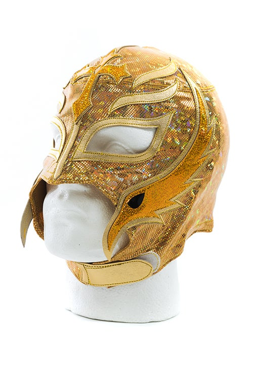 Image of Rey Mysterio x SPLX Authentic Lucha Mask (Gold)