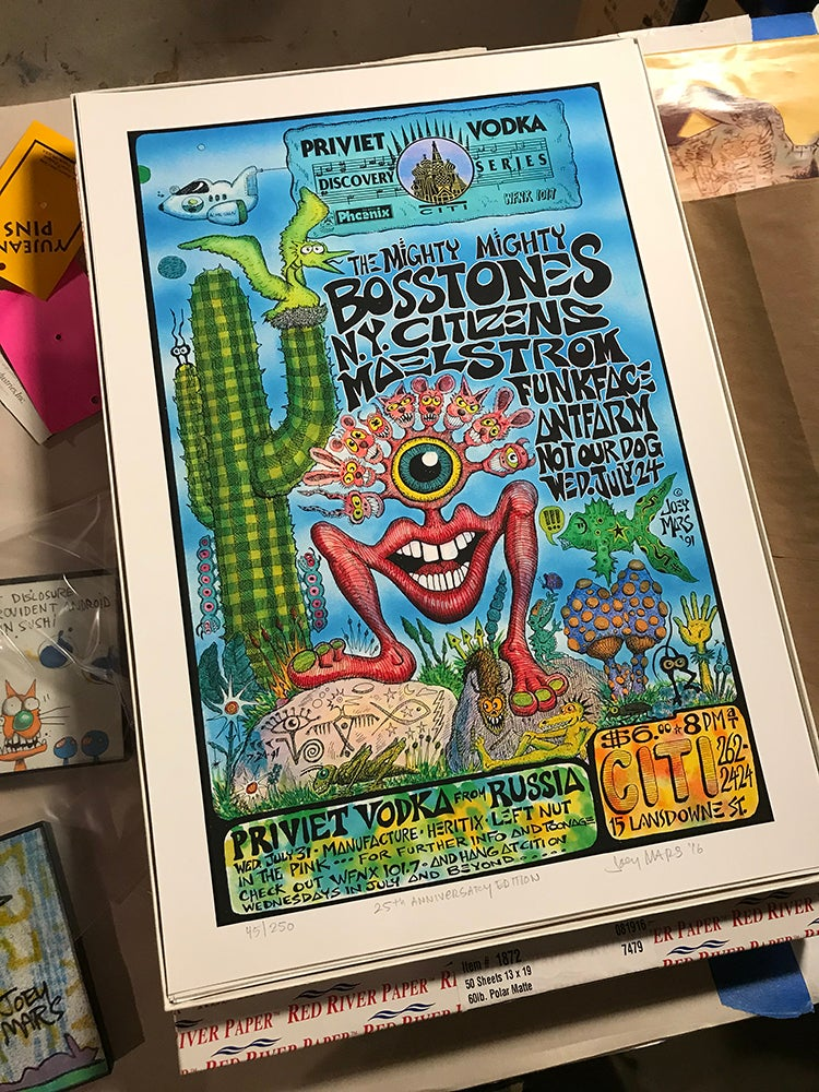 Image of 25th Anniversary Poster Featuring The Mighty Mighty Bosstones