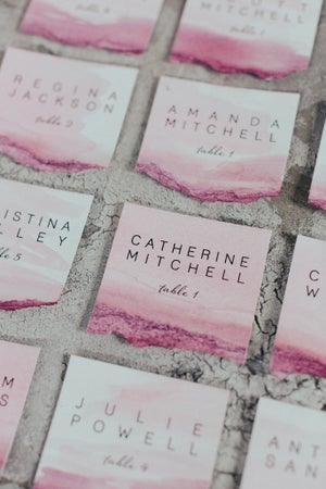 Image of Printed Watercolor escort/place cards