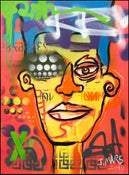Image of Defacing the Future: original painting on canvas