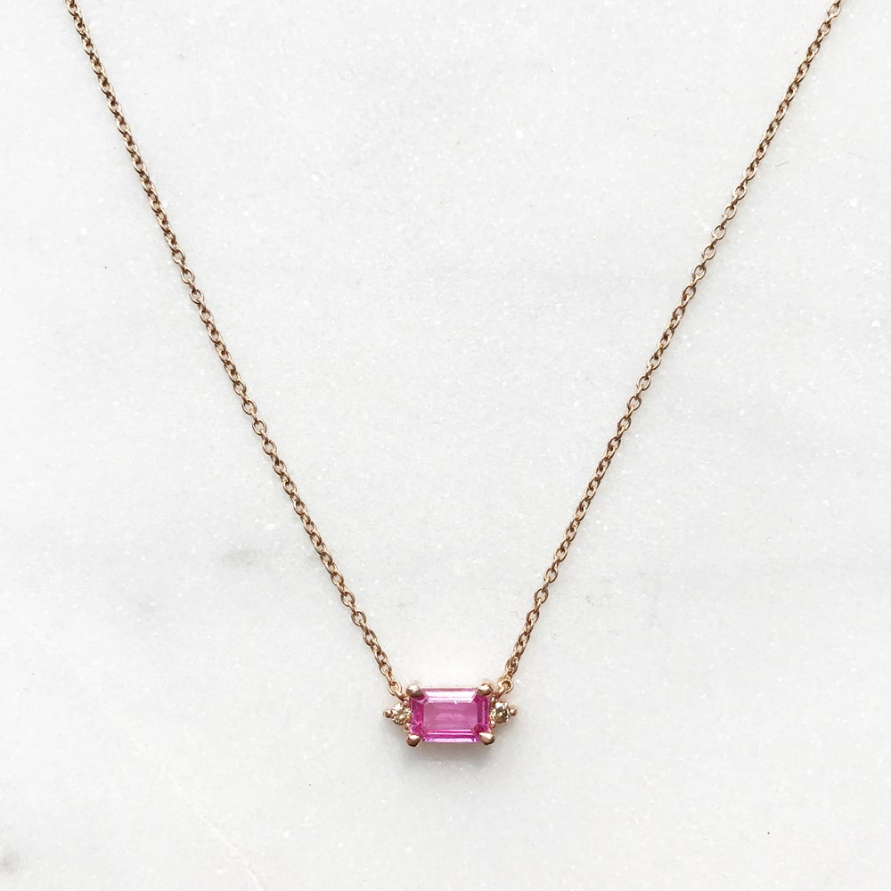chain necklace cut pink sterling created silver pendant gemstone with heart sapphire pendants