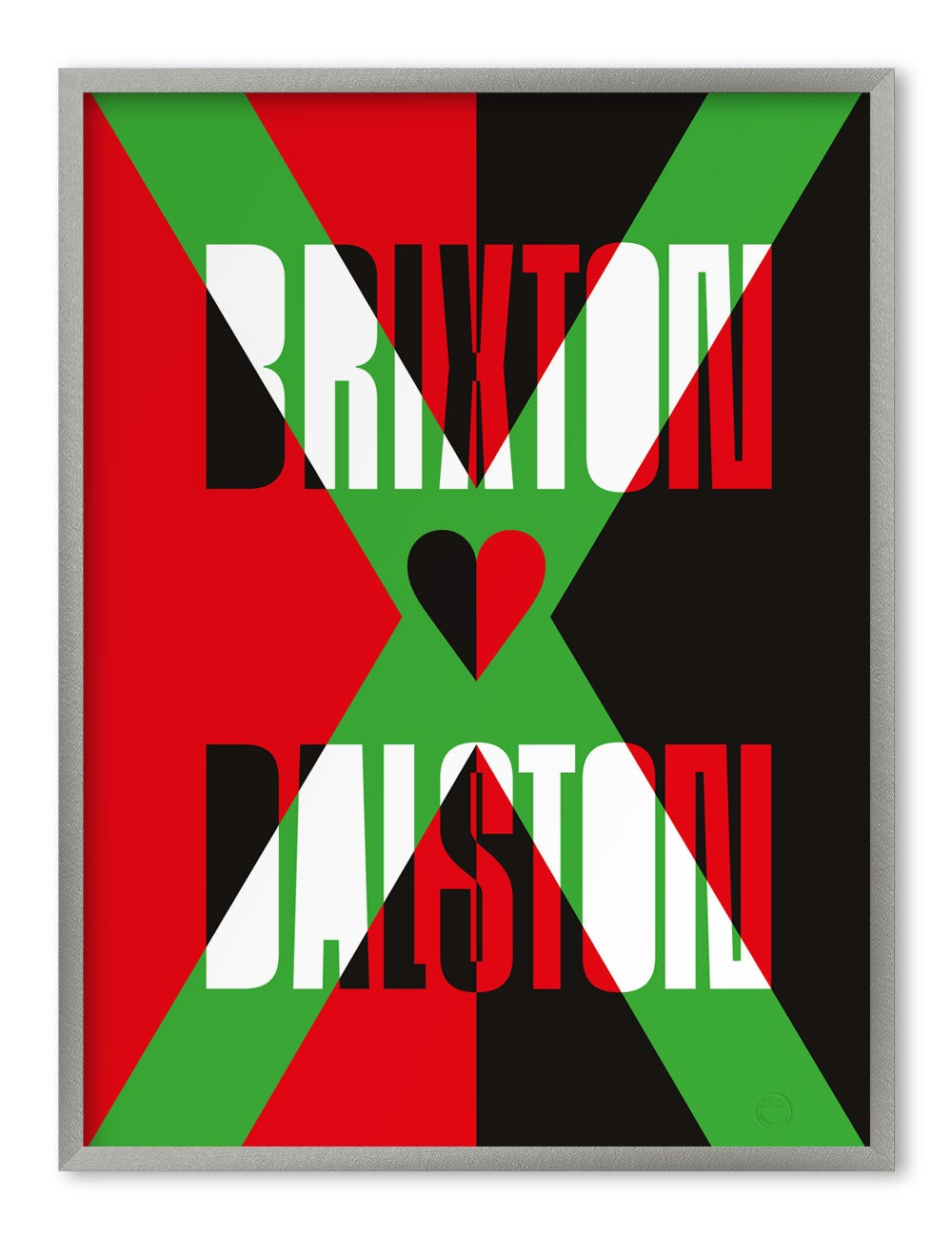 Image of BRIXTON ♥︎ DALSTON — A1 litho print, edition of 500