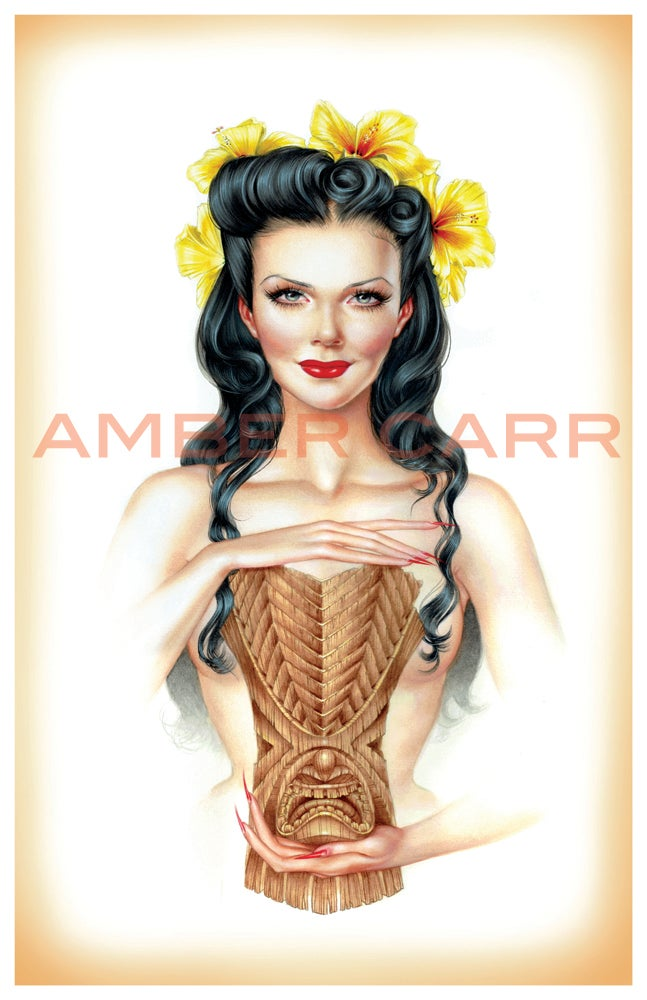 "Image of ""Tiki Girl"" 11"" x 17"" Print"