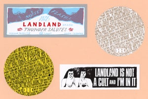 Image of Landland Assorted Stickers (available in packs & individually)