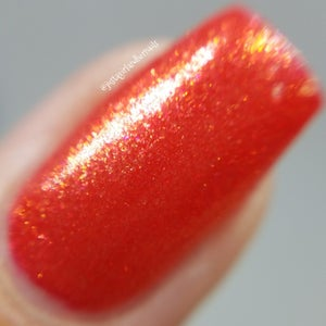 Image of Scorcher – a bright orange-red with gold shimmer