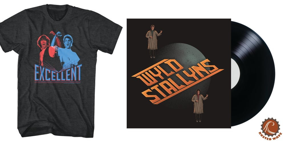 Image of Bill & Ted's Excellent Adventure LP + Tee Bundle