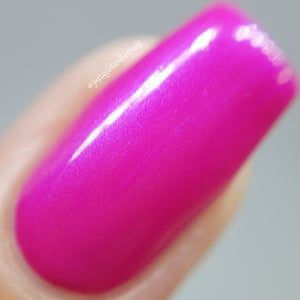 Image of Opals are Blue – a hot pink polish with a strong blue flash