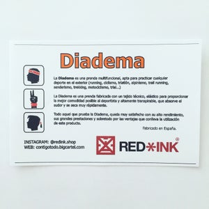 Image of DIADEMA RED*INK