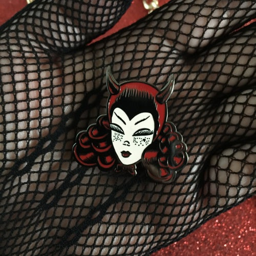 Image of Devil Cake Enamel Pin
