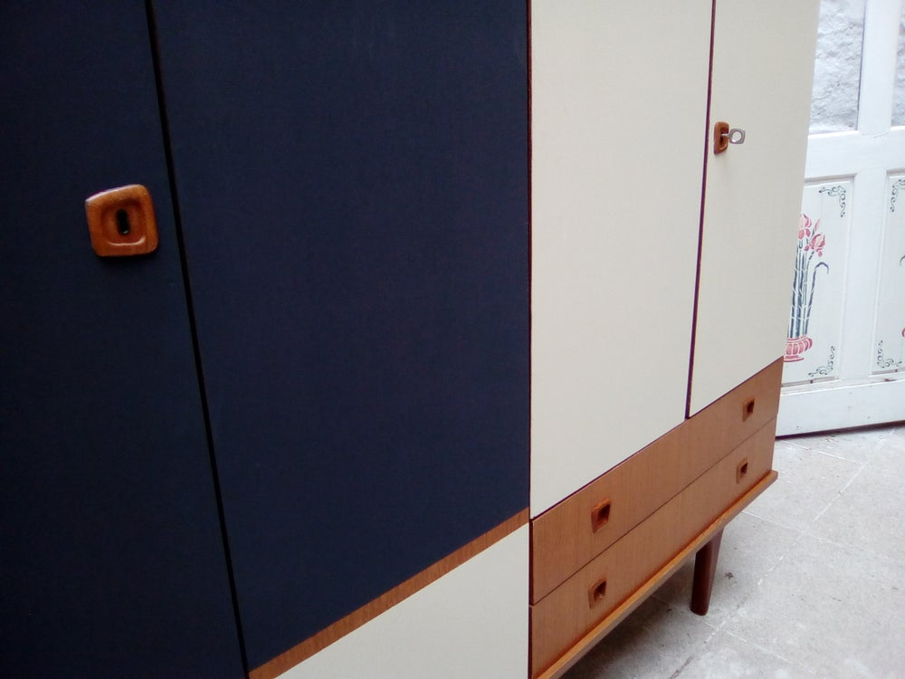 Image of Armoire 60' placage teck