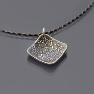 Image of Sterling Silver Moroccan Tile Necklace