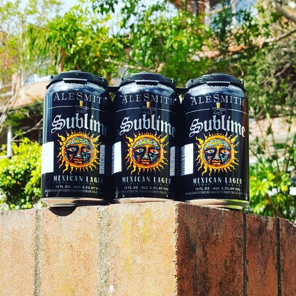 Image of 6 x 355ml Sublime & Alesmith Mexican Lager cans
