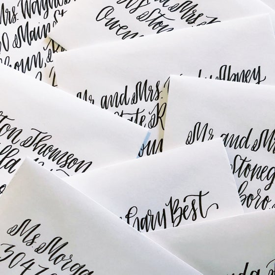 Image of Hand lettered Envelopes