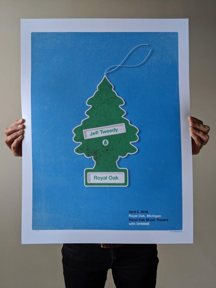 Image of Jeff Tweedy, Royal Oak, Michigan Gig Poster