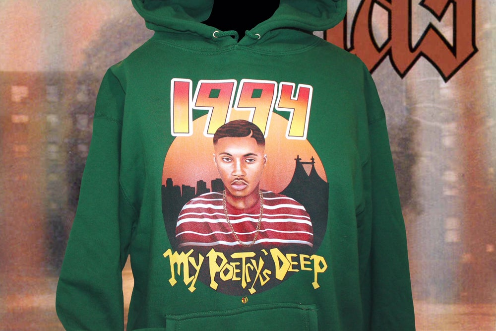 Image of Nas [1994 4EV HOODIE] (FOREST GREEN)