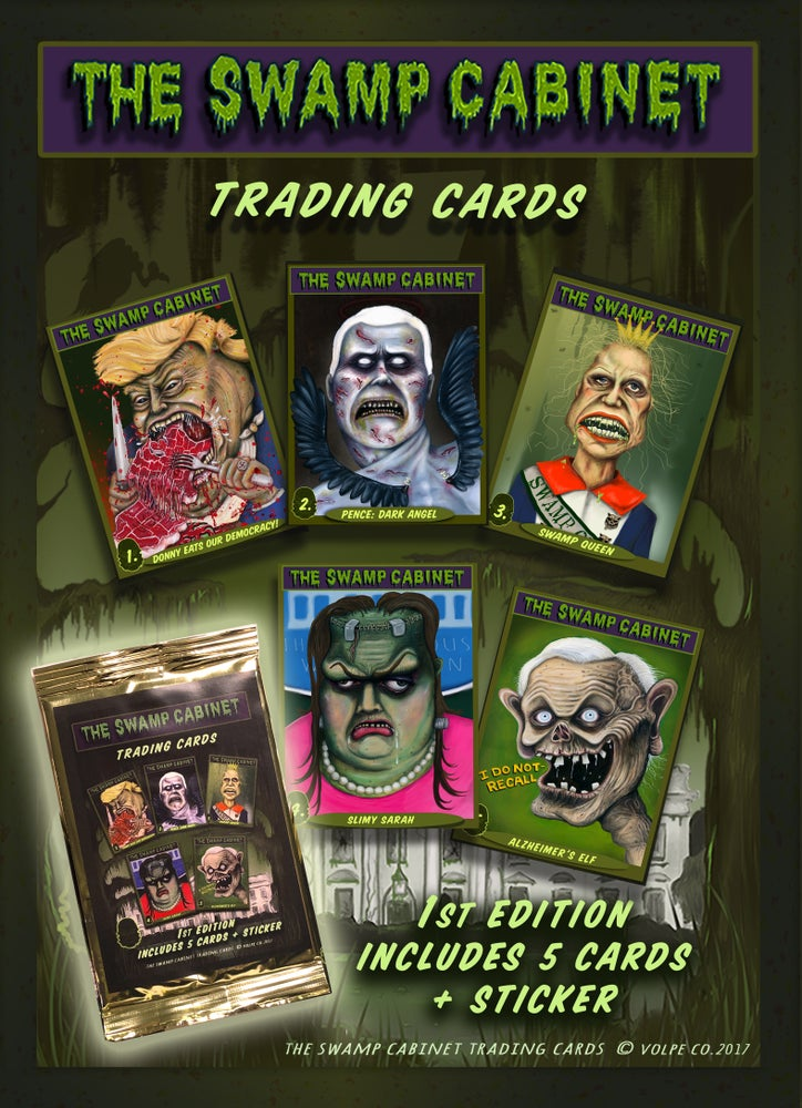 Image of Swamp Cabinet Trading Cards