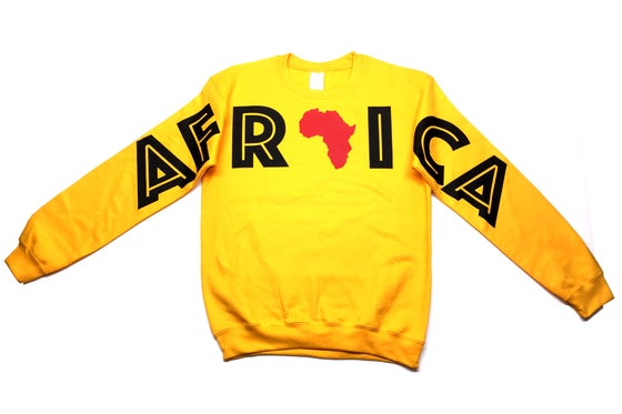 """Image of World Tour """"Africa"""" Crew Neck Gold"""