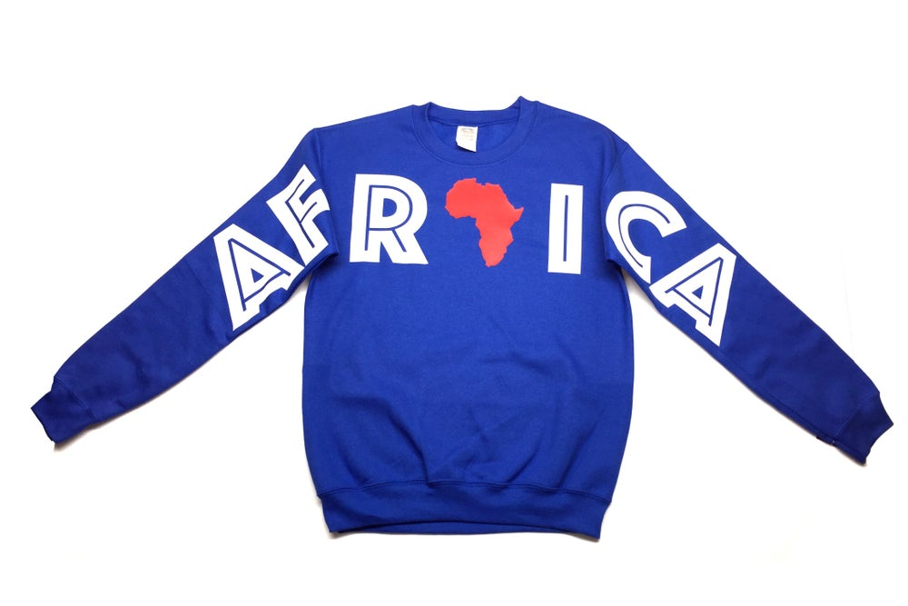 "Image of World Tour ""Africa"" Crew Neck Royal"
