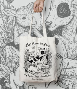 Image of LET THEM BE FREE TOTE BAG
