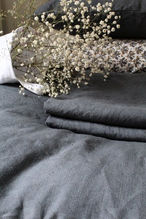 Image of Taie d'oreiller en lin gris (TOLINGRF)