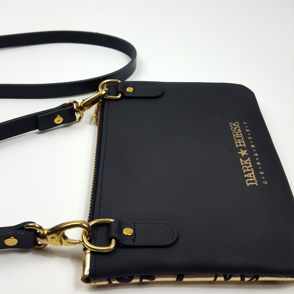 Image of LOVE slogan clutch/crossbody bag