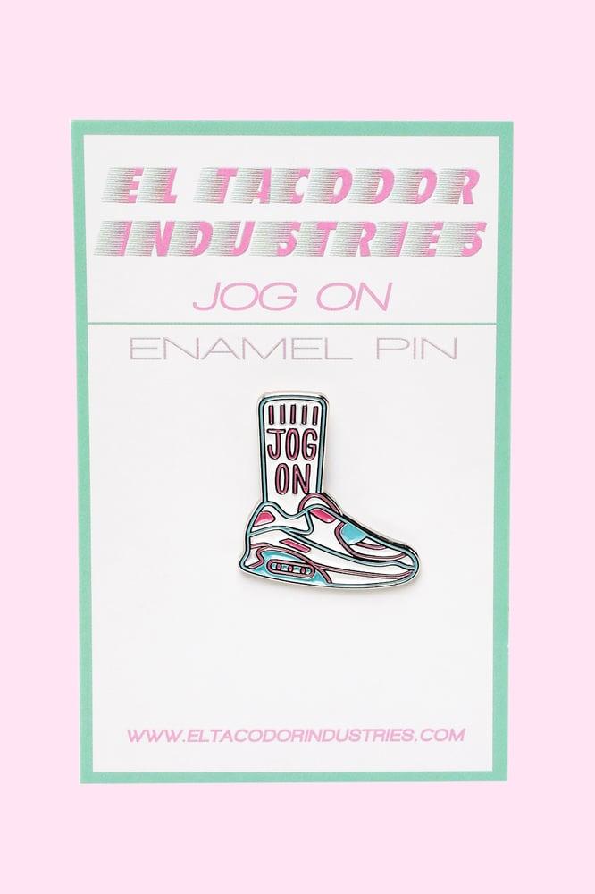 Image of Jog On Enamel Pin Badge